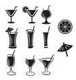 set of cocktail icons vector image
