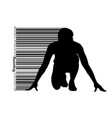 silhouette of a running man vector image