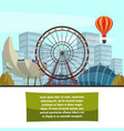 singapore marina bay attractions composition vector image