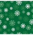 snow green pattern vector image vector image