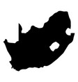 south africa - solid black silhouette map of vector image vector image