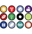 sports buttons coloured vector image vector image