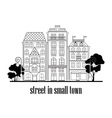 street in small town vector image vector image