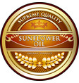 sunflower oil icon vector image vector image
