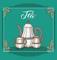 tea culture concept vector image vector image