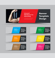template horizontal web banners with diagonal vector image vector image