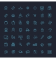 Thin lines web icons set - E-commerce shopping vector image vector image