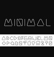 thin minimalistic font creative english alphabet vector image
