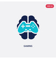 two color gaming icon from artificial vector image vector image