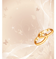 Wedding rings design vector image vector image
