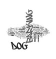why dog s bark text word cloud concept vector image vector image