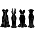 Woman Party Dress Silhouette vector image vector image