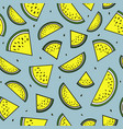 yellow slices of watermelon seamless pattern vector image vector image