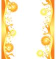 citrus splash frame vector image