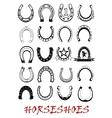 Isolated horseshoe symbols set vector image