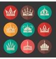 royal crowns icons set vector image