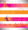 2016 calendar grunge banners vector image vector image