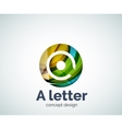 A letter concept logo template vector image