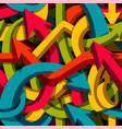 abstract seamless arrows background motley 3d vector image vector image