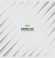 abstract siagonal paper cut with shade light vector image