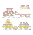 Agribusiness of collection of farm tractor w vector image