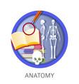 anatomy of human school classes discipline at vector image vector image