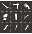 black barber icons set