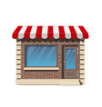 brick small store facade with awning vector image
