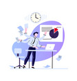 businessman multitasking at workplace busy vector image vector image