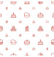 cake icons pattern seamless white background vector image vector image