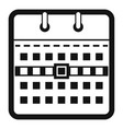 calendar page icon simple black style vector image