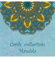 Card design with mandala pattern vector image vector image