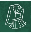 chalk icon school wear vector image