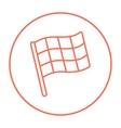 Checkered flag line icon vector image