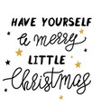 christmas lettering artb1 vector image