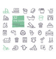 cleaning and housework icons flat design thin vector image vector image
