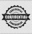 confidential scratch grunge rubber stamp on vector image vector image