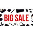 creative of super big sale vector image vector image