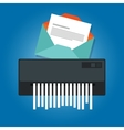 delete remove spam email trash message paper vector image