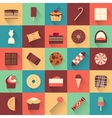Dessert icon set Collection of tasty sweets vector image