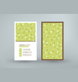 double-sided vertical business card template vector image