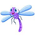 Dragonfly in purple color vector image vector image
