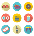 Flat Design Cinema Icons vector image