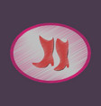 flat shading style icon women boots with heels vector image