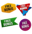 free bonus sticker or label set vector image vector image