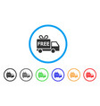 free delivery rounded icon vector image vector image