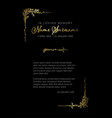 funeral death notice card template vector image vector image