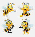 funny cartoon bee collection vector image