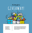 giveaway banner for your design vector image