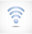 gradient icon wi fi technology elements vector image vector image